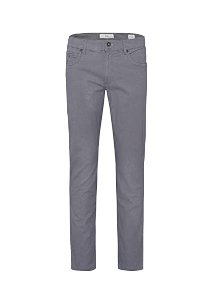Entdecken Sie die neuesten Trends Verkaufsförderung online Shop Brax Herren Two Tone Five Pocket Flachgewebe Hose