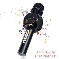 Karaoké Microphone, NASUM jouer et chanter Microphone à main Musique Bluetooth pour adultes et enfants compatible avec Android/IOS, PC ou tout smartphon