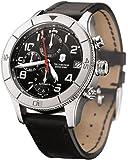 Victorinox Swiss Army Men's 241193 Ambassador Clous De Paris Black Leather Automatic Chronograph Watch