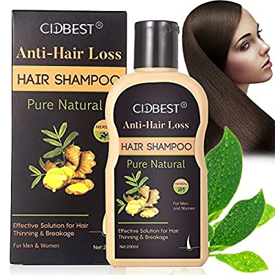 Anti-Hair Loss Shampoo, Hair Regrowth Shampoo, Natural Old Ginger Hair Care Shampoo Effective Solution for Hair Thinning & Breakage - Organic Hair Regrowth Products for Men & Women