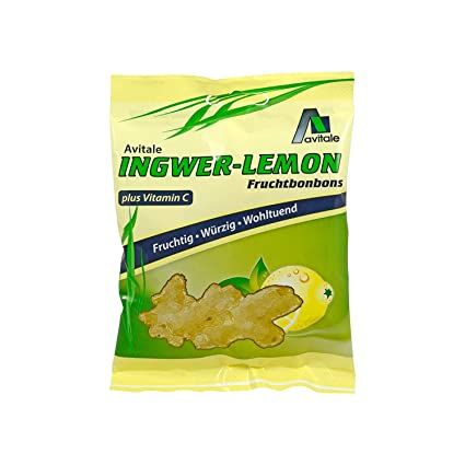 Jengibre Lemon Caramelos + Vitamina C 75 g Caramelos