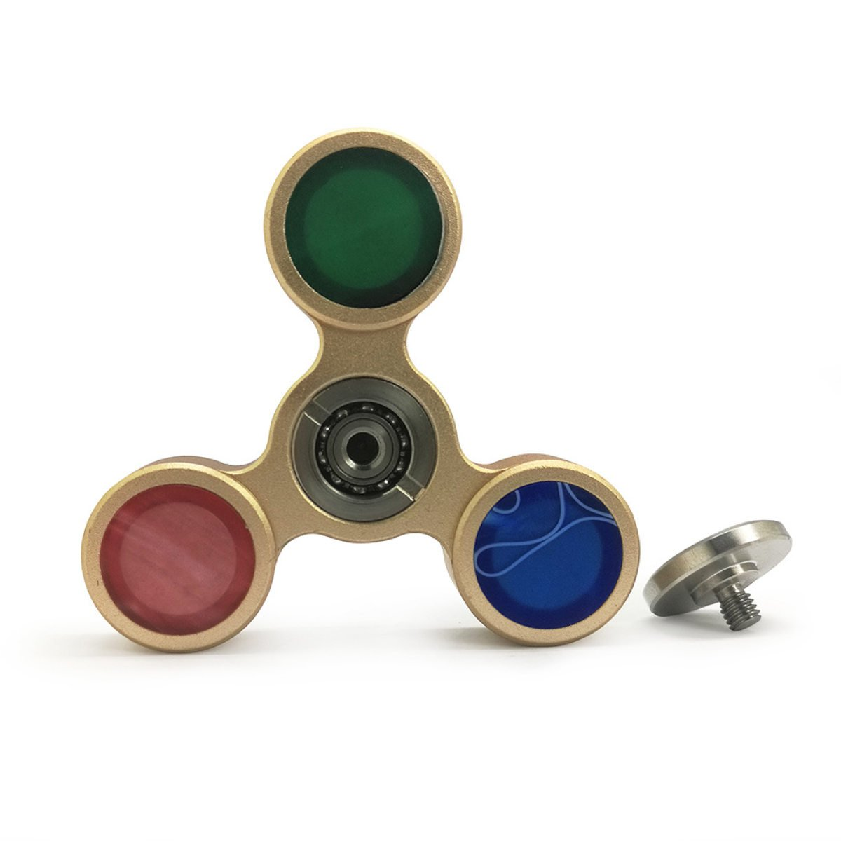 YIHANG @ Fidget Spinner Fingerspitze Gyro Finger Schraube Dreieck High Speed ​​Focus Super Durable Dekompression Spielzeug