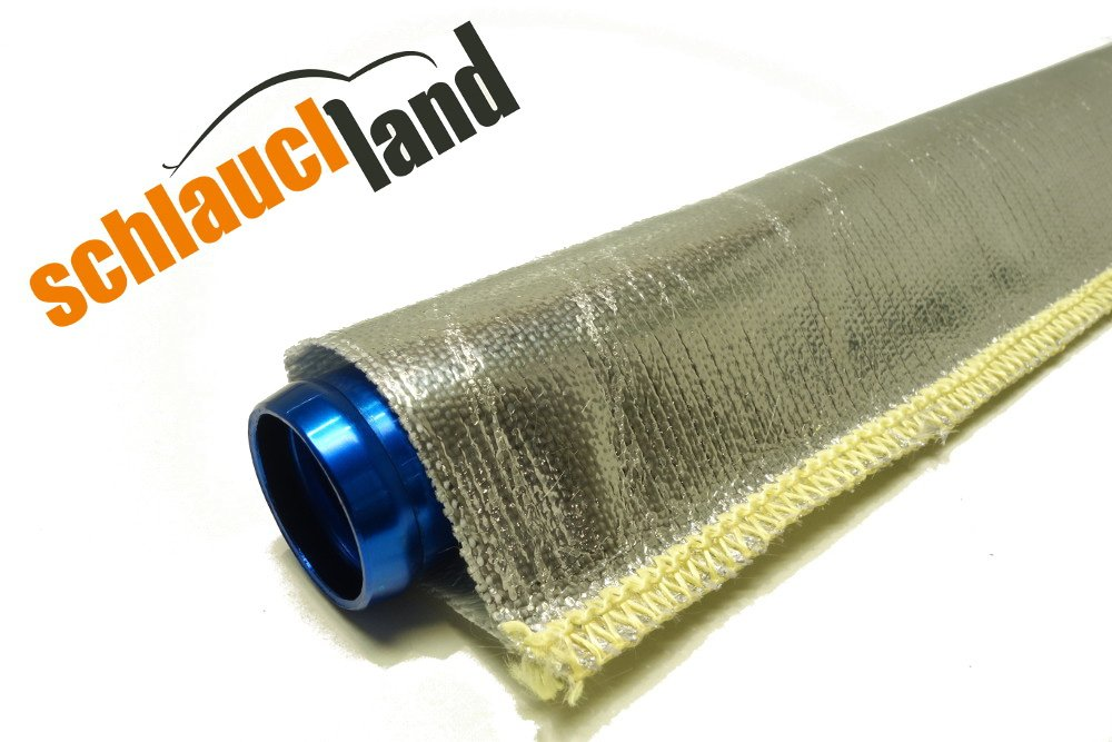 1m Alu-Titan Hitzeschutzschlauch ID 10mm gekettelt **** Wä rmeschutz Kabelschutz Mantel Gewebeschlauch Ö lleitung Benzinschlauch Schlauchland