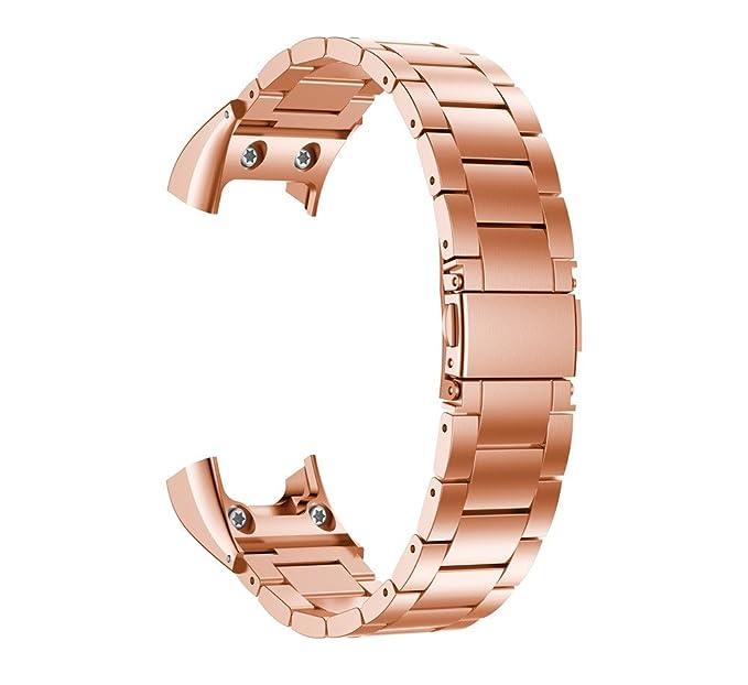 LANSKIRT Bandas de Metal de la Correa de Venda del Reloj Accesorio del Acero Inoxidable Correas metalicas para Relojes repuestos de Relojes para Garmin ...