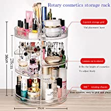 【Kosync】 360 Degree Rotating Cosmetic Organizers Transparent Acrylic Large Round Detactable Spinning Makeup Storage Holders 6 Layers Big Capacity Cosmetic Shelf Box