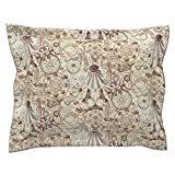 Roostery Tea Stain Steampunk Gothic Alchemy Occult Witch Pillow Sham
