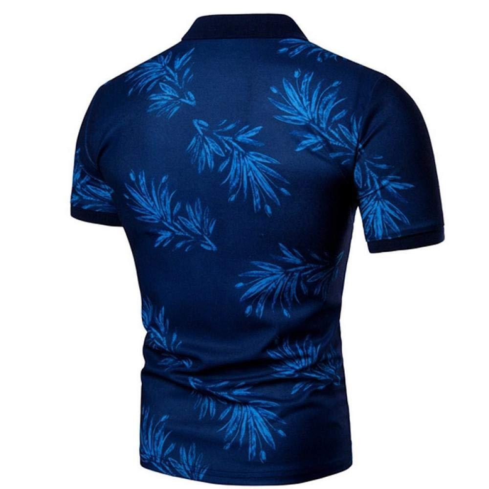 Graphic Shirt Collar Blue XL//Short Sleeve YFLTP Mens Daily Wear Polo