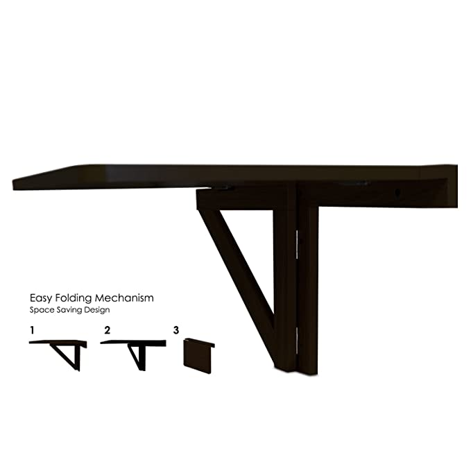 Amazon.com: Mesa abatible de pared Furinno, Madera, Espresso ...
