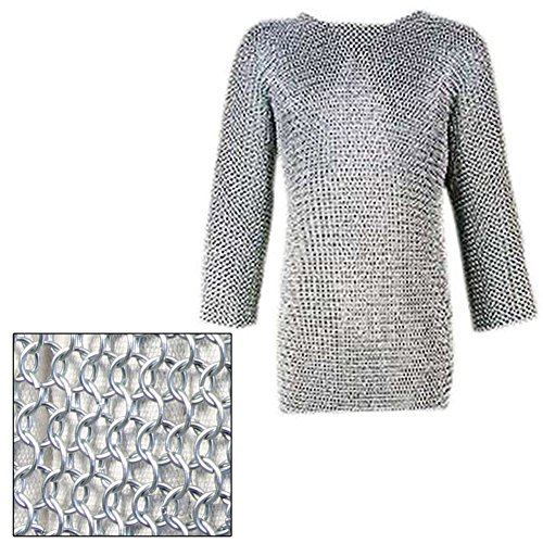 Medieval Knights Full Sleeve Hauberk Large Chainmail by Armory Replicas