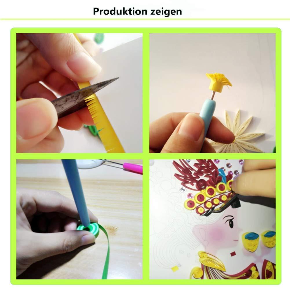 caolator 5/pezzi Quilling Strisce di carta quilling Arte Strisce Striscia 600/5/colori Quilling Origami di carta 5/mm larghezza 54/cm lunghezza per due stelle diy 5mmx54cm Rosa Serie-720pcs