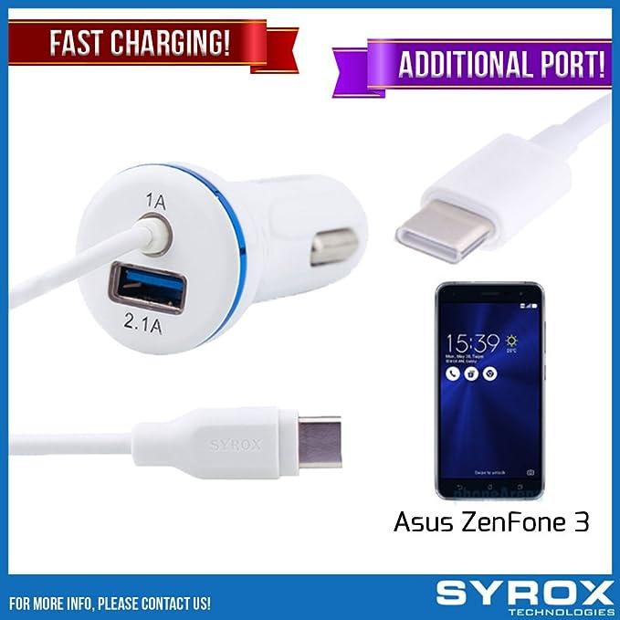 Syrox - Cargador y puerto de coche para Asus ZenFone 3 ...