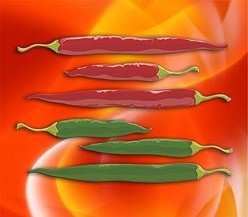 Spritzschutz Kuchenruckwand Edelstahl Fs 012 Peperoni Paprika Grun