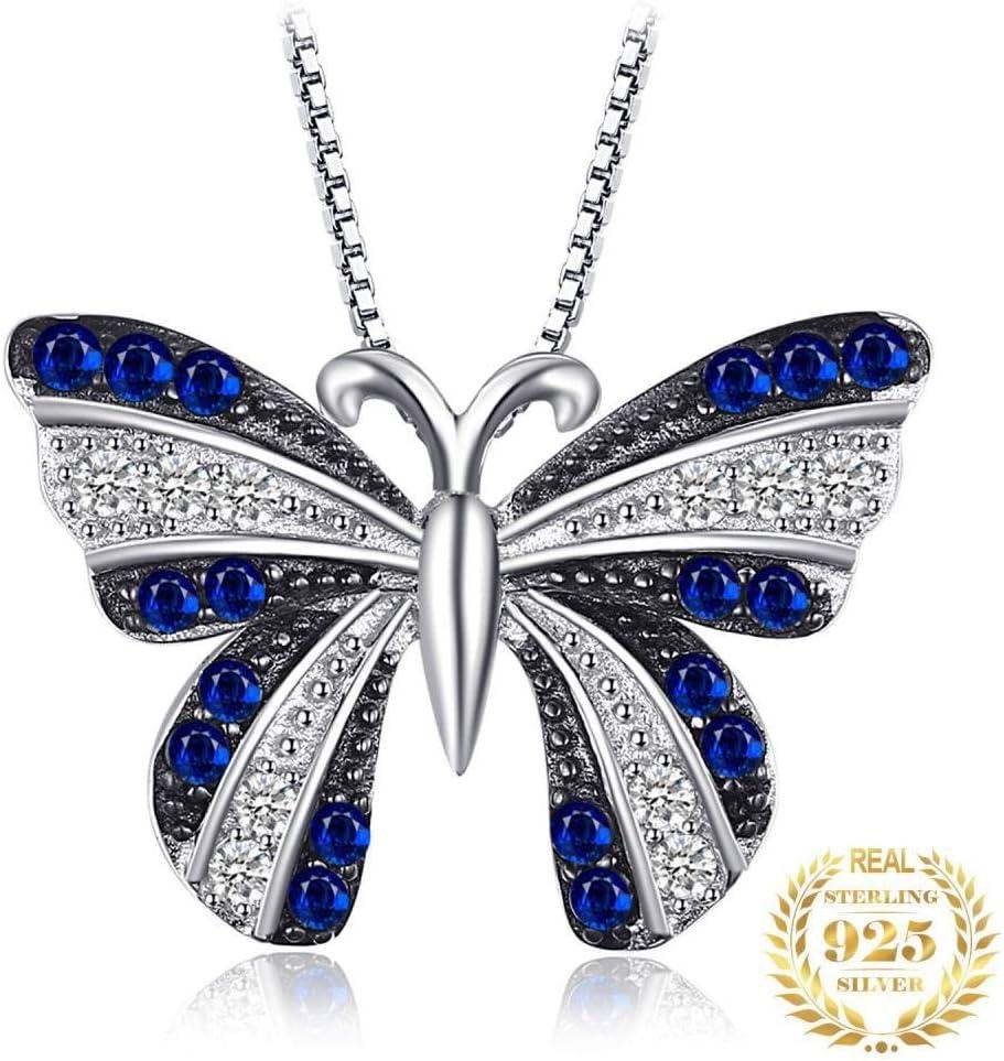 Colgantes De Plata 925 para Mujer,Romántico De Moda Cute Chainless Butterfly Espinela Forma Animal Encante para Damas Accesorios Joyas Regalo De Cumpleaños Parte Accesorios