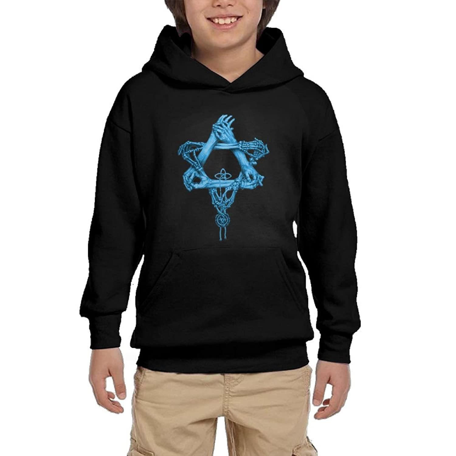 cheap Star Hand Boy Girls Long Sleeve Hoodies Athletic Hooded Sweatshirts With Pocket for cheap