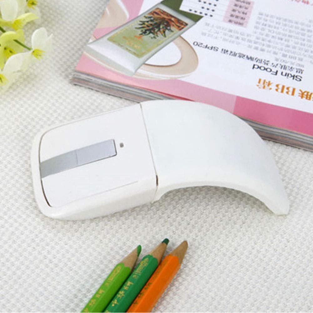 Color : White YongFeng Folding Touch Thin Wireless Mouse Portable Creative Personality Mouse