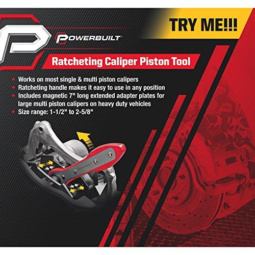 Powerbuilt Ratcheting Brake Caliper Piston Spreader Press Tool - 647861 by Powerbuillt (Image #1)