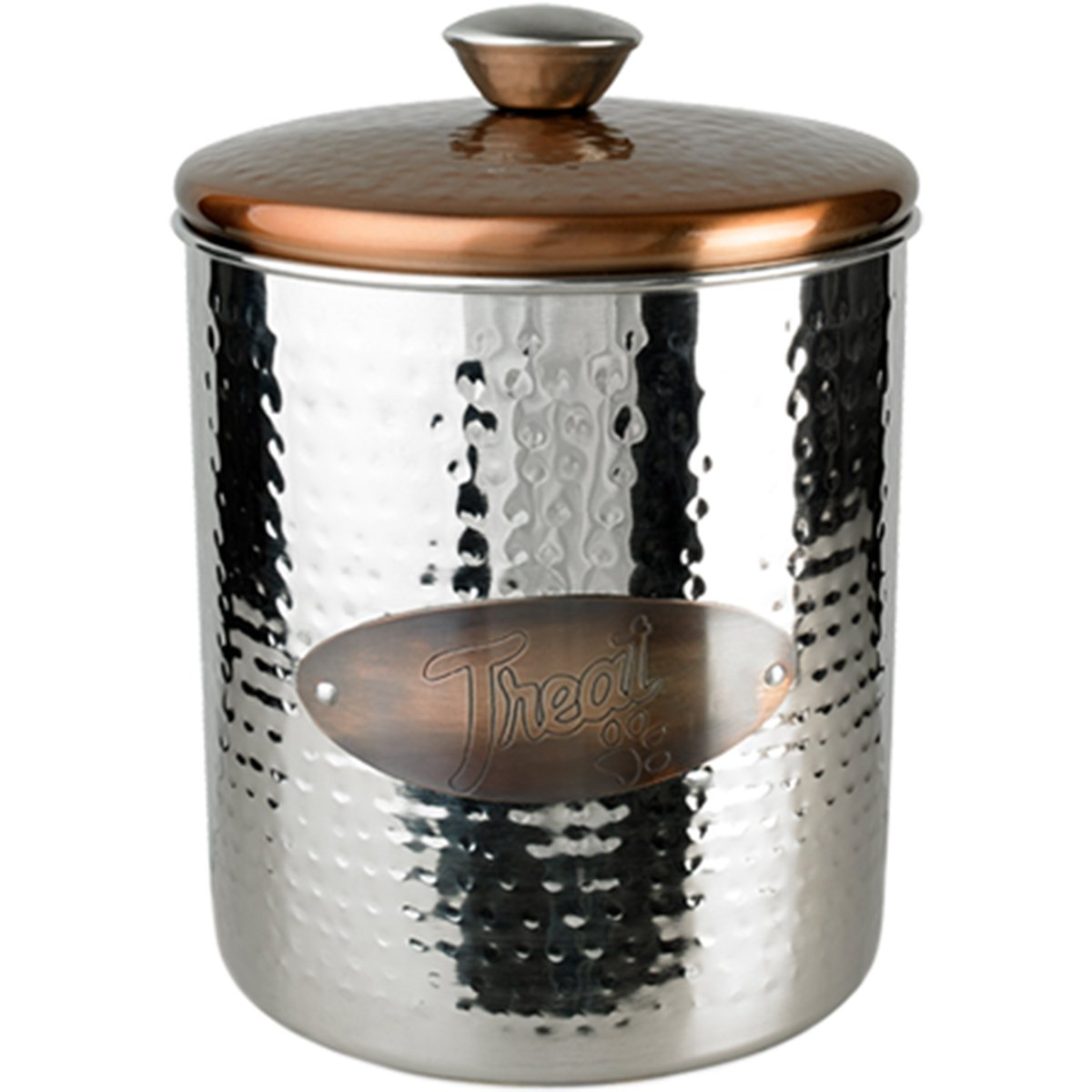 Buddy's Line Hammered Stainless Steel Copper Top Treat Jar 16 oz