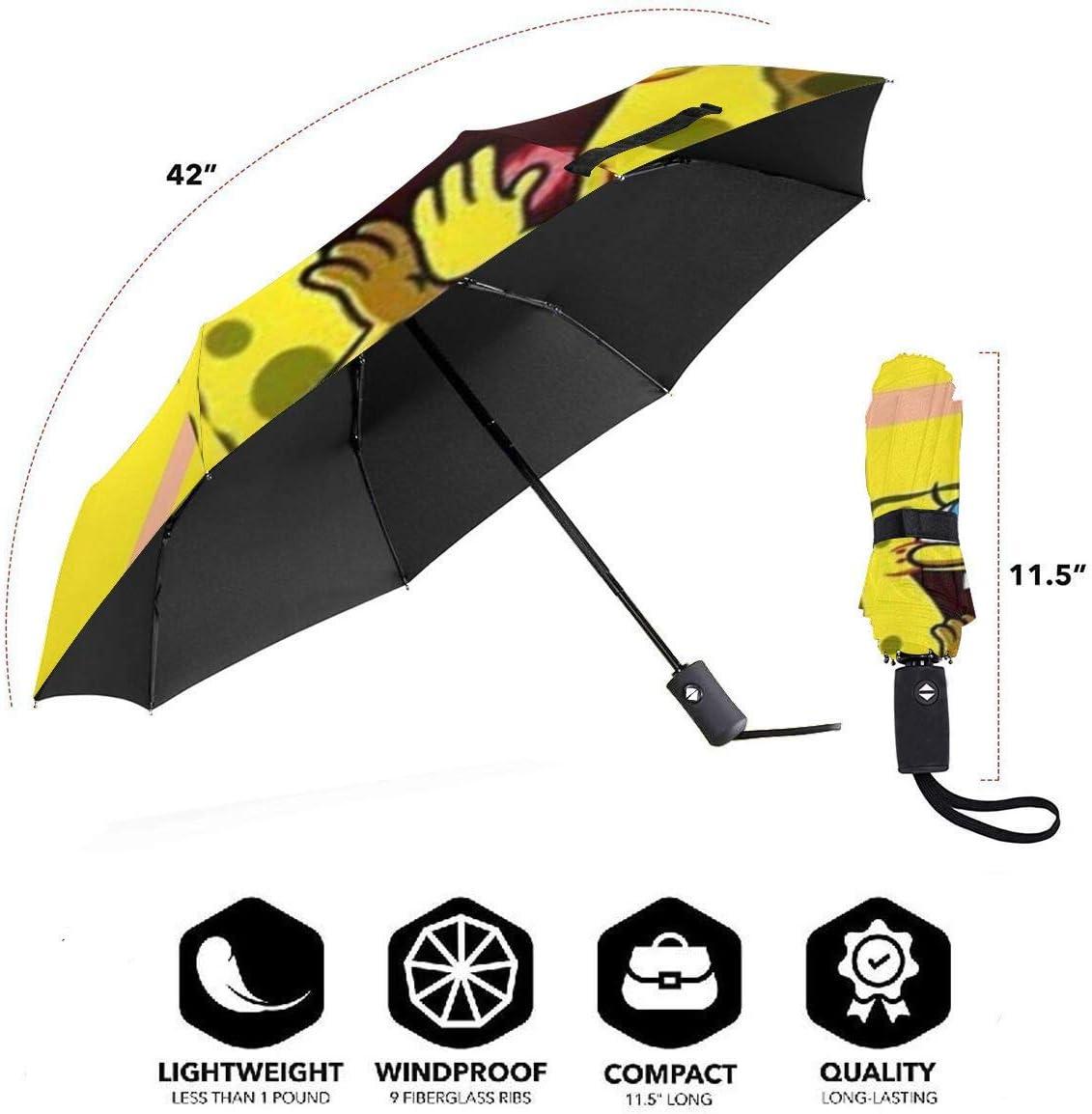 Windproof Travel Umbrella Spongebob Squarepants Compact Folding Umbrella Automatic Open//Close