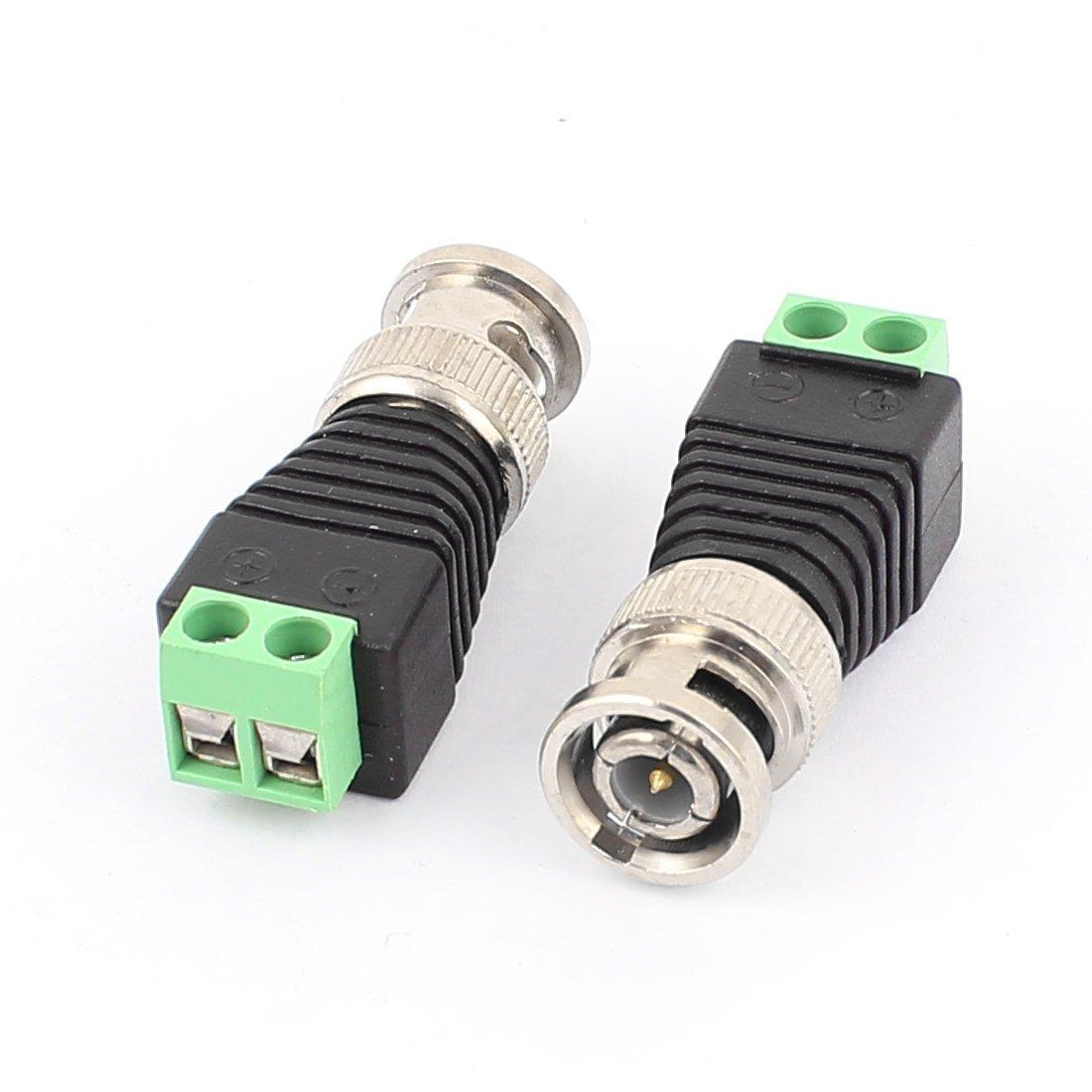 eDealMax 5 piezas de BNC al adaptador masculino de vídeo CCTV Balun coaxial conector de cámara de TV - - Amazon.com