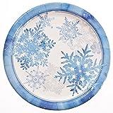 "9"" Blue Snowflake Plates (8 CT)"