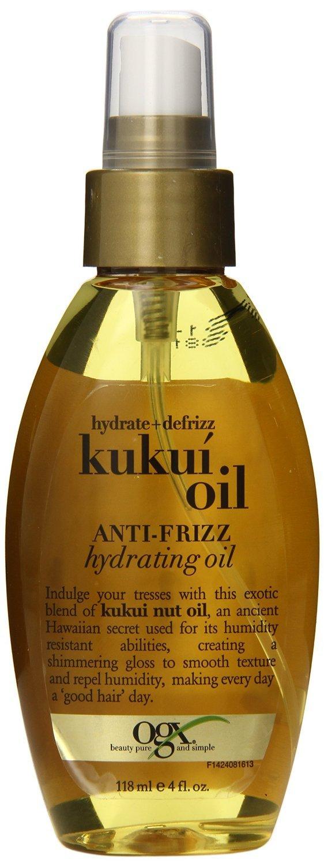 Ogx Kukui Oil Hydrating Oil 4oz Anti-Frizz (6 Pack) OGX (Organix)