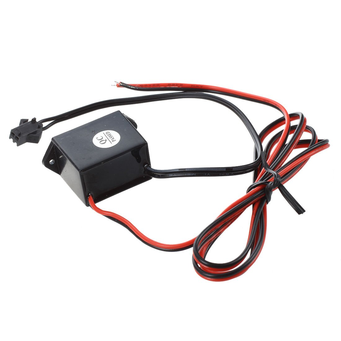 SODIAL(R) red-black cable DC 12V EL wire neon glow strip light driver unit inverter by SODIAL(R) (Image #2)