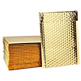 Fu Global Metallic Bubble Mailers 6x10 inch Gold Self Seal #0 Padded Envelopes Pack of 50