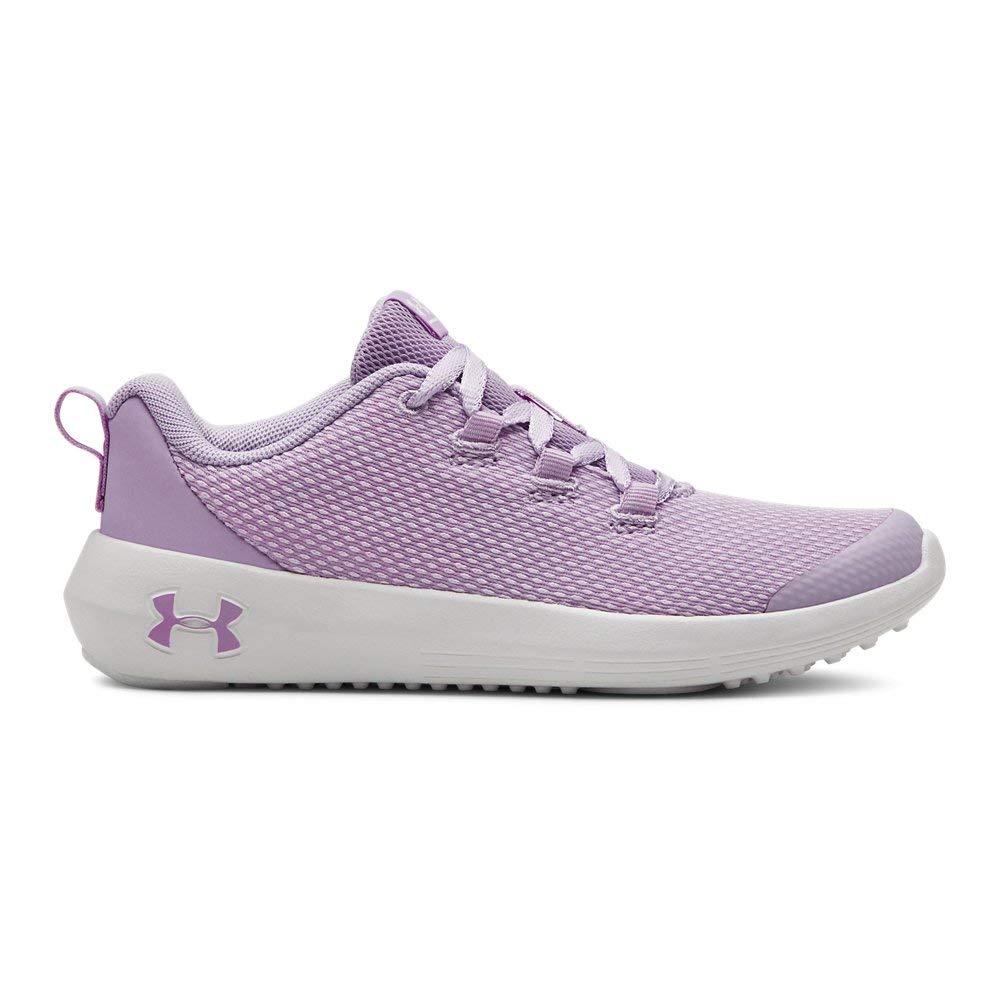 Under Armour Girls' Pre School Ripple Sneaker, Purple Ace (500)/White, 1 M US Little Kid