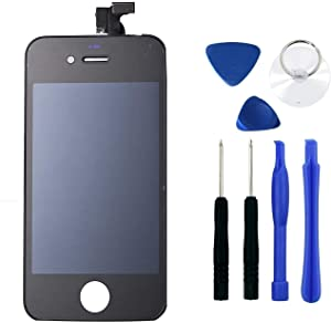Black iPhone 4S LCD Touch Screen Digitizer Glass Replacement Full Assembly with Repair kit