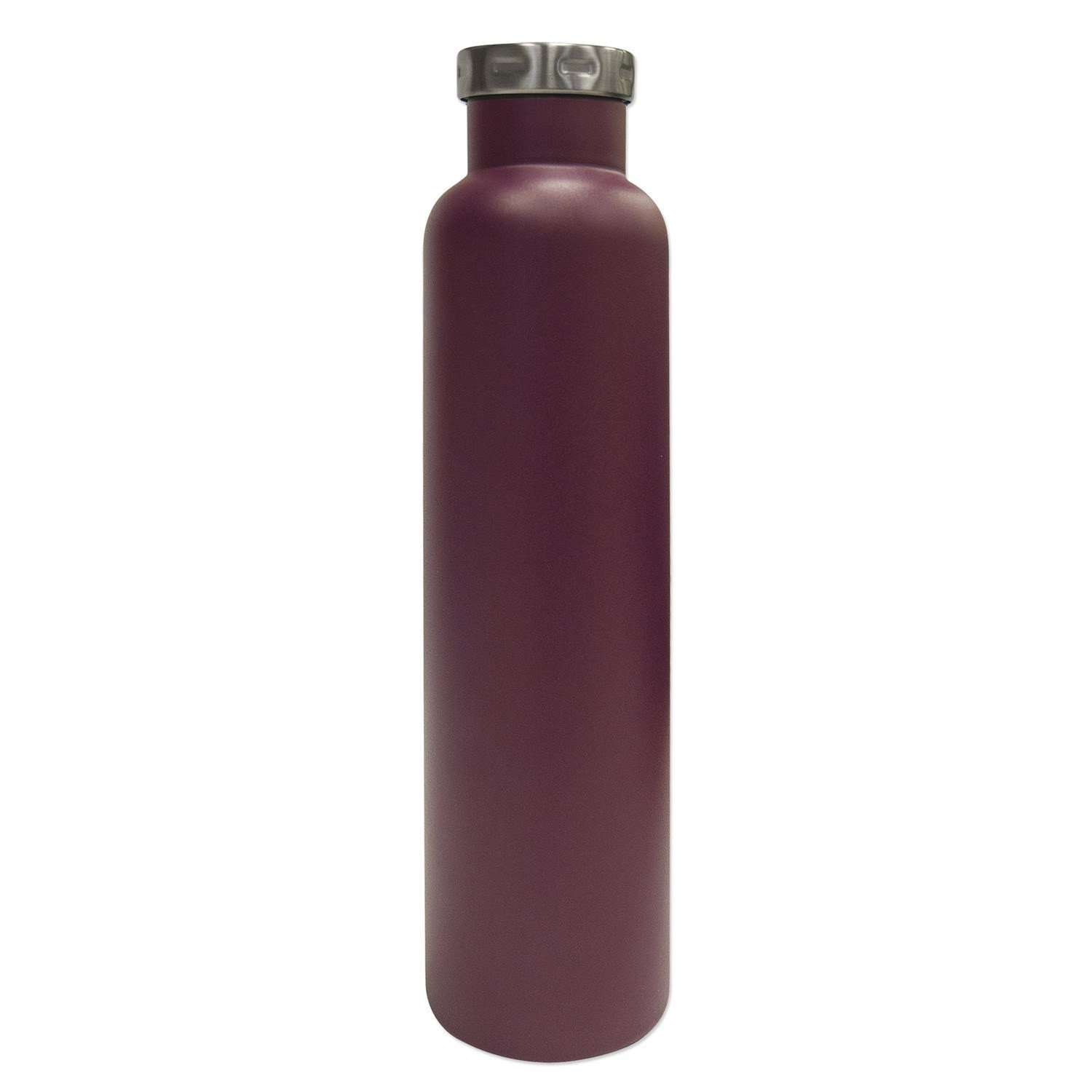 Fifty/Fifty Seven Fifty Double Wall Vacuum Insulated Wine Growler, 18/8 Stainless Steel, 750ml, Burgundy
