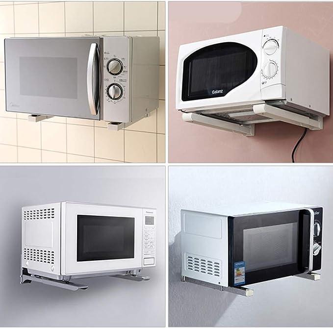 Amazon.com: Soporte de pared para microondas, plegable, para ...