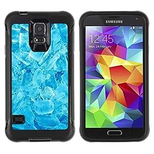 Paccase / Suave TPU GEL Caso Carcasa de Protección Funda para - Winter Cool Ice Crystals Refreshing Snow - Samsung Galaxy S5 SM-G900