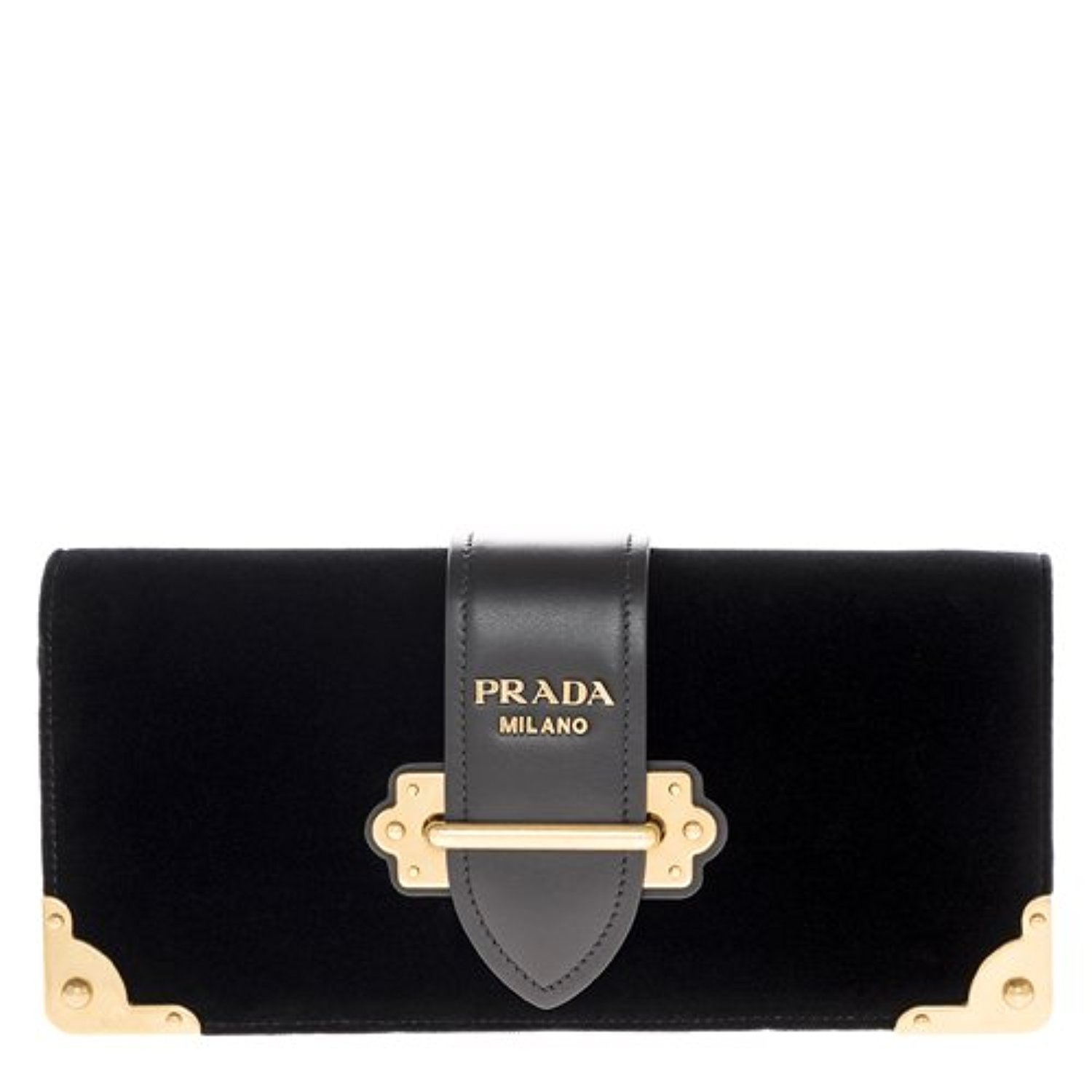 acbdc4a8515a Amazon.com: Prada Women's Cahier Handbag Velvet Black: Clothing