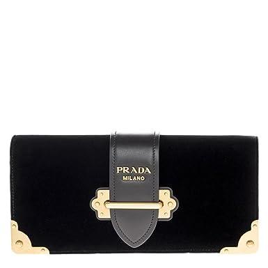 a0ef1b7176d Amazon.com  Prada Women s Cahier Handbag Velvet Black  Clothing