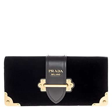 e16050f81d57 Image Unavailable. Image not available for. Color: Prada Women's Cahier  Handbag Velvet Black