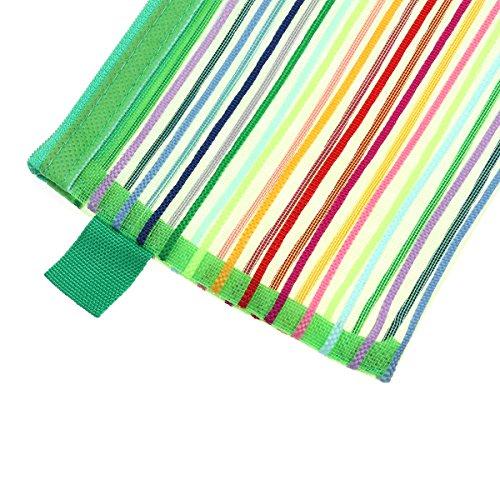TOYMYTOY 12 Stücke Nylon Reißverschluss Datei Taschen A5 zip dokument geldbörsen/ordner, Mehrzweck Regenbogen Streifen Reisetasche für Kosmetik Make-Up Bürobedarf (Lila) Grün