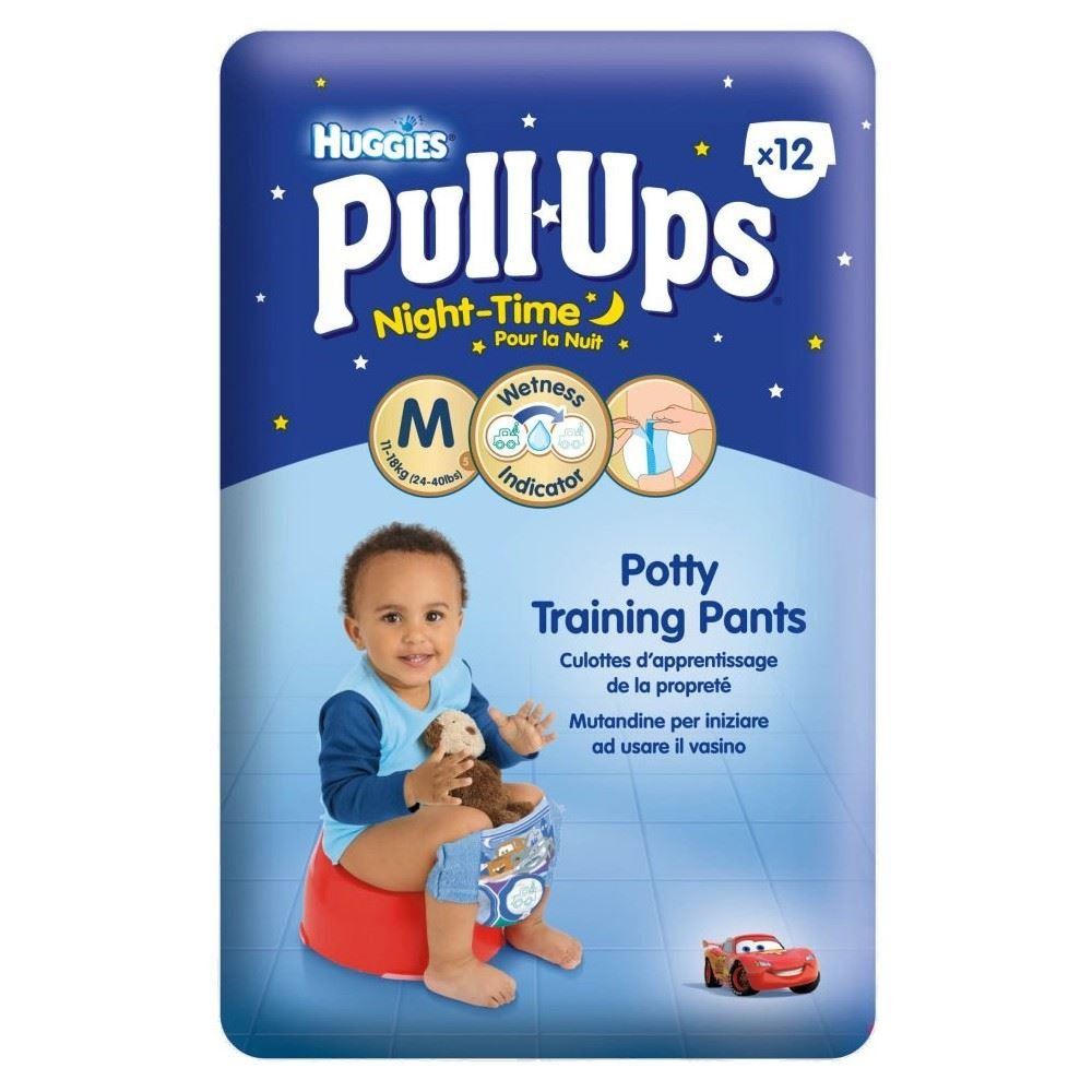 Huggies Pull-Ups Night Time Potty Training Pants for Boys Size 5 Medium 11-18kg (12) Groceries