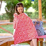 IAMA Complete ❤ New Reversible ❤ Nursing Cover Up 100% Cotton Hypoallergenic Breastfeeding Nursing Cover Bonus One of A Kind Travel Bag for Infant Nursing Cover