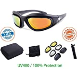 Cycling Goggles Sunglasses Spectacles - Wecamture - 4 Interchangeable lenses Sports Eye Protective Glasses Outdoor Shooting Trekking Driving Hiking Glasses