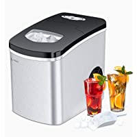 LITBOOS Portable Ice Makers Countertop,Stainless Steel Nugget Ice Maker Machine - 9 Bullet Ice Cube Makers in 7-9 Mins…