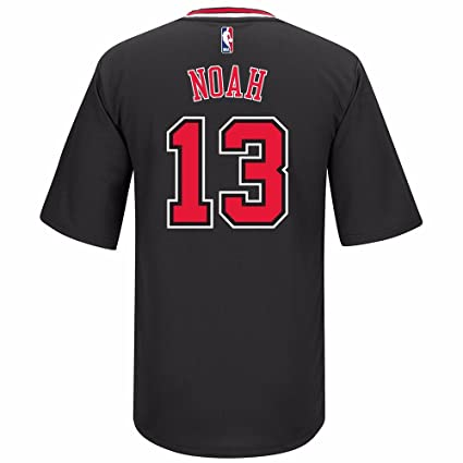 c5890a5f7 Chicago Bulls Joakim Noah Adidas Black 2014-2015 Short Sleeve Replica Jersey