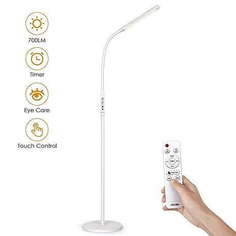 Designer LED Stehleuchten mit Schwanenhals flexible Leselampe für Schlafzimmer