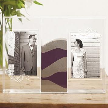 Amazoncom Clearly Love Sand Ceremony Shadow Box With Photo Frames