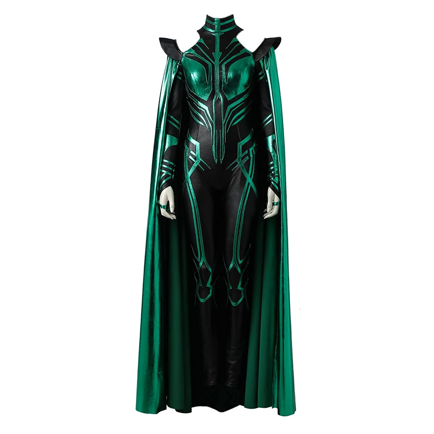 Women's Hela Jumpsuit and Cloak Costume by CosplayDiy - DeluxeAdultCostumes.com