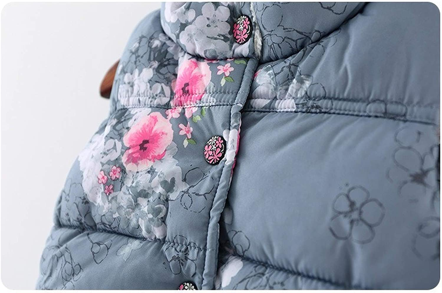 Cute Girls Floral Cotton Winter Warm Outerwear Vests