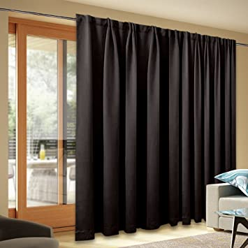 Blackout Patio Door Curtain Panel   Back Tab Thermal Insulated Blinds For  Sliding Doors, Wide