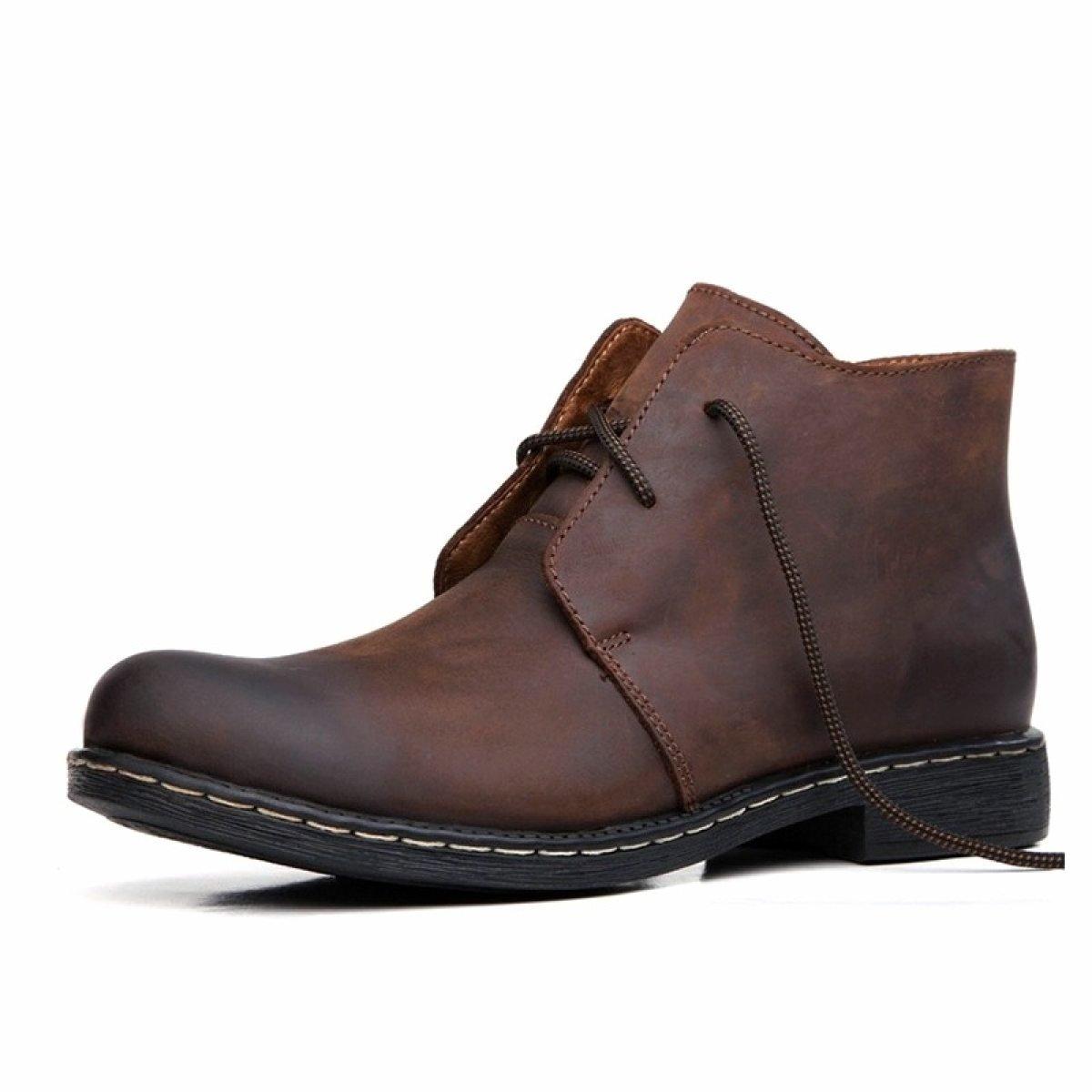 Herren Stiefel Winter Plus Baumwolle Mode Leder Stiefel Casual Stiefel Hohe Hilfe Martin Stiefel GTYMFHcompany