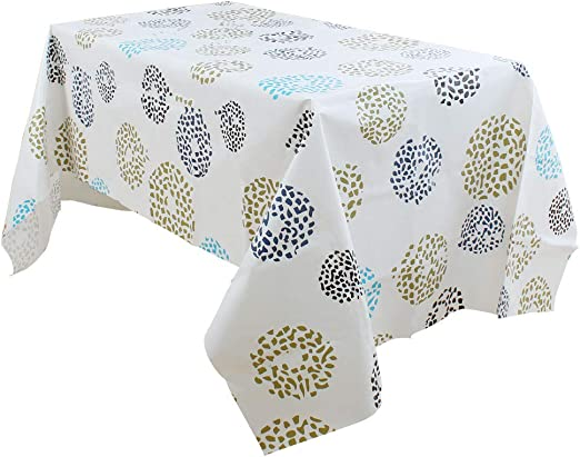 JUST NUMBERS VINYL WIPE CLEAN PVC TABLECLOTH