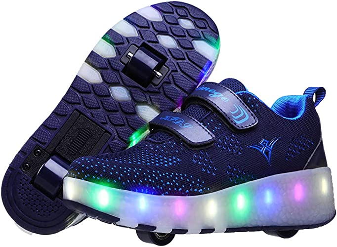 Led Luces Zapatos con Ruedas para Peque/ños Ni/ño y Ni/ña Autom/ática Calzado de Skateboarding Deportes de Exterior Patines en L/ínea Brillante Mutilsport Aire Libre y Deporte Gimnasia Running Zapatillas