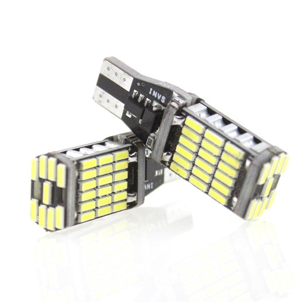 WINOMO 2pcs auto lampadine LED T15/Potenza elevata 4014/per sostituzione delle lampade di Ricambio posteriore Giallo